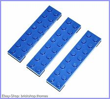 Lego 3 x Plate (2 x 8) - 3034 Blue - Blue Plate - New / New