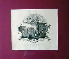 TICKET FOR TIVERTON SCHOOL FEAS - HOGARTH - 1880 - rif. 96 H