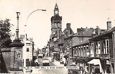 Congleton England Town Hall & High Street Real Photo Antique Postcard (J12160)