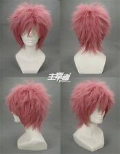 Ao No Blue Exorcist Renzou Shima fairy tail Natsu Anime Cosplay Wig + Free CAP