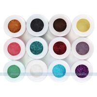 12 30 Colors Colorful Makeup Mineral Eye Shadow Pigments Glitter Art Cosmetics