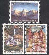 Nepal 1975 Tourism/Nature/Waterfall/Mountain/People/Kumari/Religion 3v (n38874)