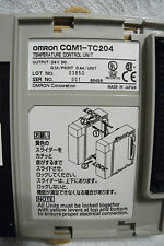 OMRON  - CQM1 TC204 - 2 LOOP THERMOCOUPLE IN,PNP OUT HBD TEMPERATURE