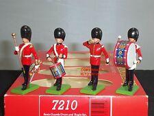 Britains 7210 Guardie Scozzesi A TAMBURO + Bugle cerimoniale METAL Toy Soldier Figure Set
