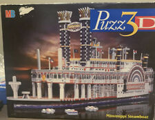 MB 3D JIGSAW PUZZLE. MISSISSIPPI STEAMBOAT - COMPLETE