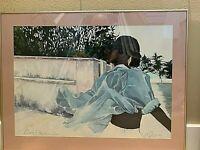 "Original Watercolor, framed. ""Kim's Freedom 2"";  signed."