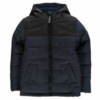 Gelert Kids Boys Quest Jacket Junior Puffer Coat Top Long Sleeve Water Resistant