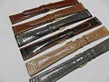 Cinturini vera pelle lucertola piatti ansa 18  20 mm watch orologi correa montre
