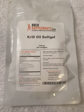 Krill Oil By Bulk Supplements 100 Capsules! New In Package!