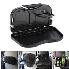 Folding Auto Car Back Seat Table Drink Food Cup Tray Holder Stand Desk UK