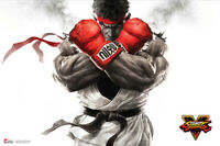 Street Fighter V - Ryu Key Art Poster 36x24 inches