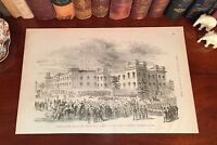 Original Antique Civil War CHARLESTON South Carolina SC Wood Engraved Print