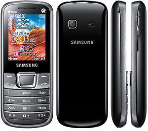 Original Unlocked Samsung E2250 with single-SIM 2G GSM 900 / 1800 Mobile Phone