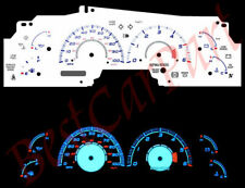 99-02 F-150 F150 Expedition Navigator BLUE INDIGLO GLOW WHITE GAUGES