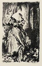 PAUL SCHEURICH - DAME AM FENSTER - Lithografie 1935