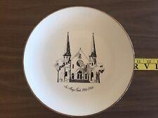 St. Mary's Parish Commorative Plate 1866-1966, Evanston, Il 22 Karat Gold