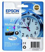 3x Original TINTE PATRONEN Epson 27 WF3620DWF WF3640DTWF WF7110DTW WF7610DWF Set