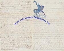 Civil War Union soldier letter 1861 on terrific Genl Nathaniel Lyon letterhead