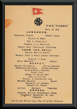 Titanic Last Menu White Star Line Reprint On Original Period 1912 Paper *P010