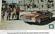 1972 Chevrolet advertisement, Chevrolet Chevelle, Chevy Coupe, Taos Pueblo NM