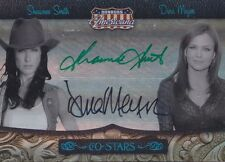 "SHAWNEE SMITH & DINA MEYER #44/50 Americana Co-Stars ""SAW"" DUAL AUTOGRAPH CARD"