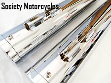 Road Glide Harley Davidson Chrome Revolver Slip-On Mufflers Exhaust Pipes HD