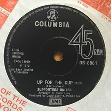 """Defensores Unidos para la Copa Reino Unido 1972 7"""" Columbia Recs registro de fútbol ()"""