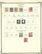 From A 1901-20 Scott Brown - Small Used Iceland Collection On A Page - SEE!!!