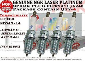 4-Genuine NGK 6240 Platinum Spark Plug PLFR5A11 For Nissan Altima Sentra X-Trail