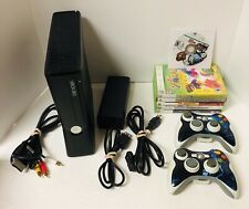 Microsoft Xbox 360 S 60GB Console Model 1439 Bundle 2 Controllers Cables 7 Games