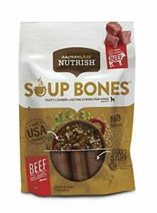Rachael Ray Nutrish Soup Bones Dog Treats, Beef & Barley Flavor, 6 Bones