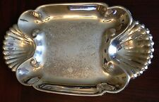RARE VINTAGE 'ENGLISH SILVER MFG. CORP' SILVERPLATE SHRIMP PLATTER MADE IN USA