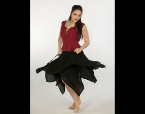 Dress Like A Pirate Brand 2 Layer 8 Point Gypsy Skirt OS-6X 8 Colors!