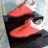 Nike HyperVenom Phantom Football Boots Moulded StudsRed & Grey/Silver Jnr Sz 4