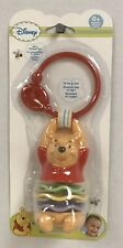 Winnie The Pooh Clip On Rattle  NEW - SHIPS FREE