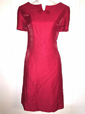 LIZ CLAIBORNE WOMENS LADIES LINED RED COCKTAIL FORMAL SHEATH EVENING DRESS ~SZ 8