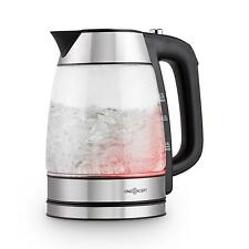 Bollitore Led Multicolor Vetro Acciaio The Te Tisane Maniglia Cooltouch Wireless