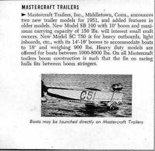 1951 Magazine Photo Mastercraft Boat Trailers Made in Middletown,CT