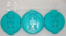 3-Teal Replacement Lids and 3-Straws for the 32 oz Hospital mugs