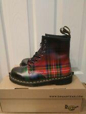 Dr. Martens 1460 TARTAN Plaid Unisex Leather Boots size 8 women's ladies