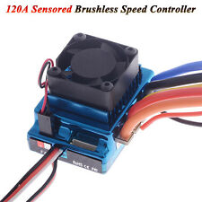 120A Sensored Brushless Speed Controller ESC for 1/8 1/10 RC Car Truck Crawler