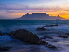 Photo composition atmosphérique table mountain afrique du sud poster print BMP11575