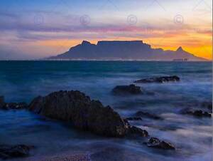 PHOTO COMPOSITION ATMOSPHERIC TABLE MOUNTAIN SOUTH AFRICA POSTER PRINT BMP11575