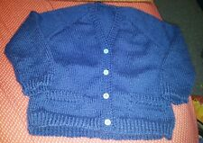 Handmade blue jacket 4 buttons for girl size 6