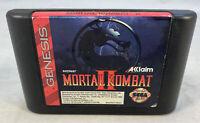 Mortal Kombat II (Sega Genesis, 1994) SG Cartridge Only Tested Works
