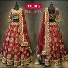 INDIAN PAKISTANI BRIDAL LEHENGA CHOLI WEDDING PARTY WEAR DESIGNER LEHENGA