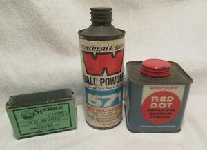 Vintage Winchester Powder Tin Hercules Red Dot Powder Tin Sierra Spitzer Box