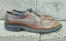 Vintage Hy Test Brown Leather Steel Toe Pebbled Leather Men's Shoes Size 9.5 D