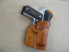 Sig Sauer 1911 Compact Leather Clip On OWB Belt Concealment Holster CCW - TAN RH