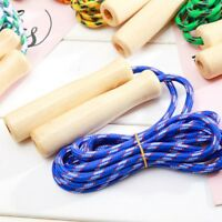 Useful Wooden Handle Jump Ropes Sports Gym Fitness Equipment Skipping Ropes~